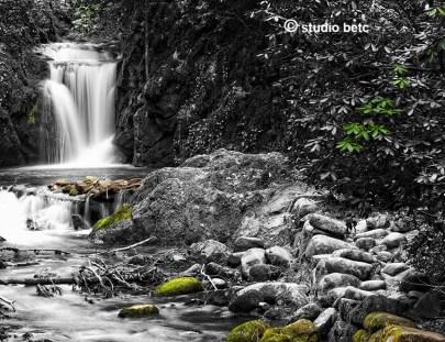 cascade noir et blanc
