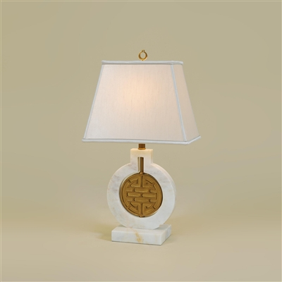 Golden White Marble Table Lamp
