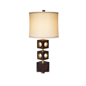 Brown Penshell Inlaid Table Lamp
