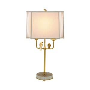 Amber Finished Brass Table Lamp