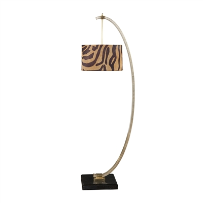 Silver Leafed Iron floor lamp