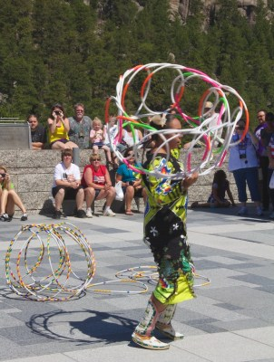 Mount Rushmore Jasmine Pickner hoop dance 2 July 2011 (1)