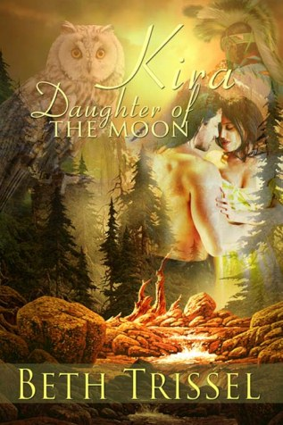 Historical Romance Kira, Daughter of the Moon, cover by Rare Monet