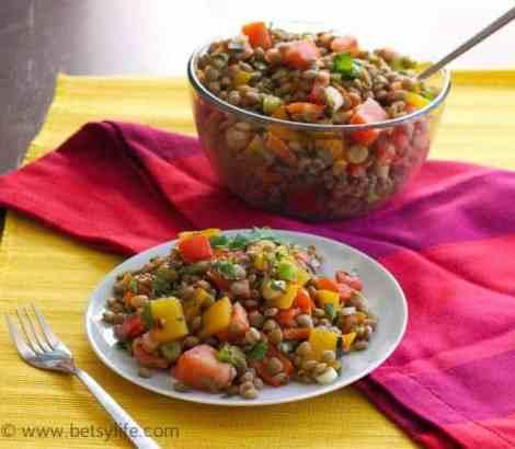 Lentil-salad-plated