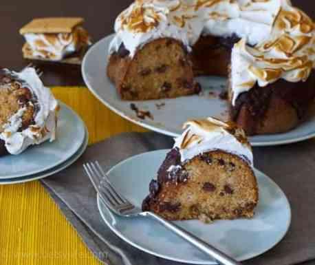 S'mores Bundt Cake |Betsylife.com
