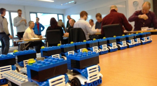 The Volvo Trucks Lego Lean Game played at a MBA course in Norway