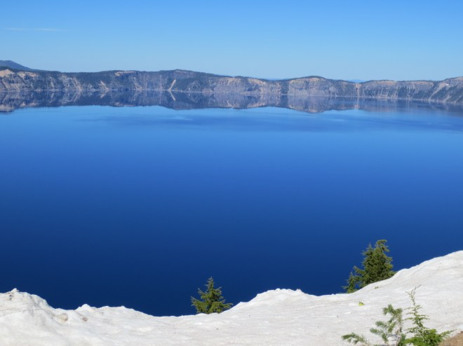 Crater Lake is the most solidly blue body of water I've ever seen. It's like a bowl full of sky.