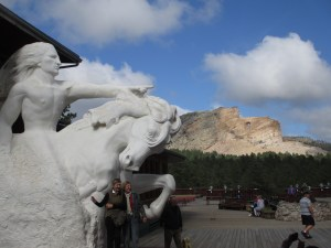 Posing with Crazy Horse