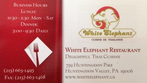 white elephant restaurant huntingdon valley review