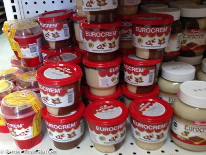 euro foods dc photo tour serbian food eurocrem serbian nutella