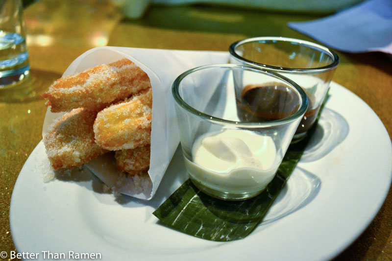 distrito university city tasting menu review churros