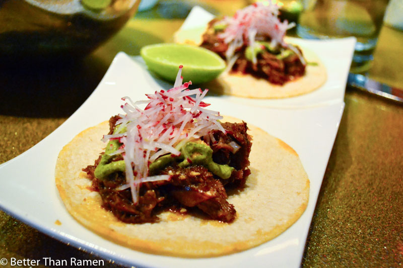 distrito university city tasting menu review cordero lamb tacos