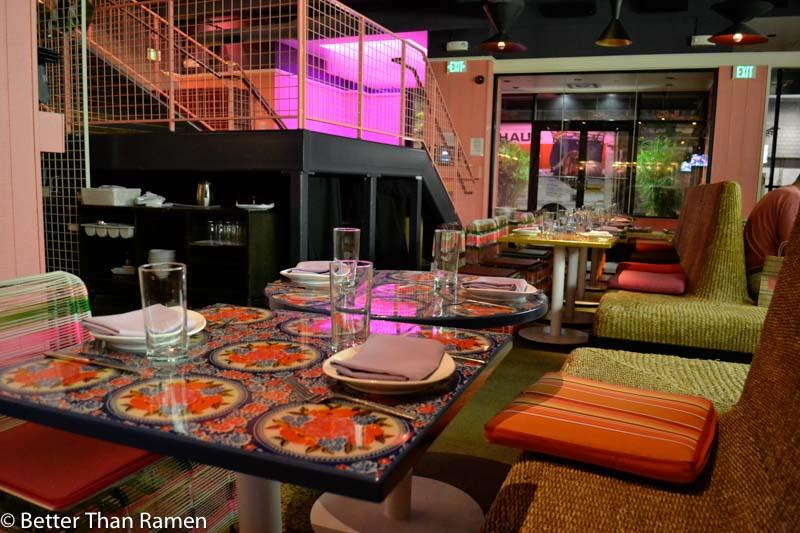 distrito university city tasting menu review interior
