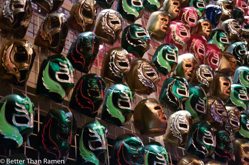 distrito university city tasting menu review luchadore masks