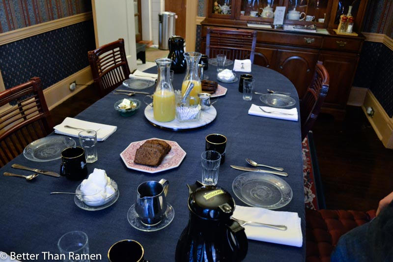 anglers inn harpers ferry breakfast review table