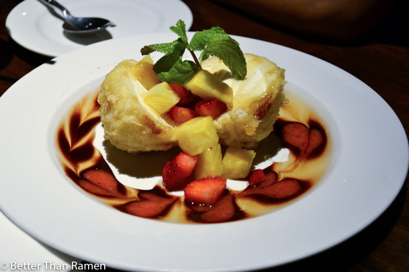doraku sushi waikiki review fried ice cream