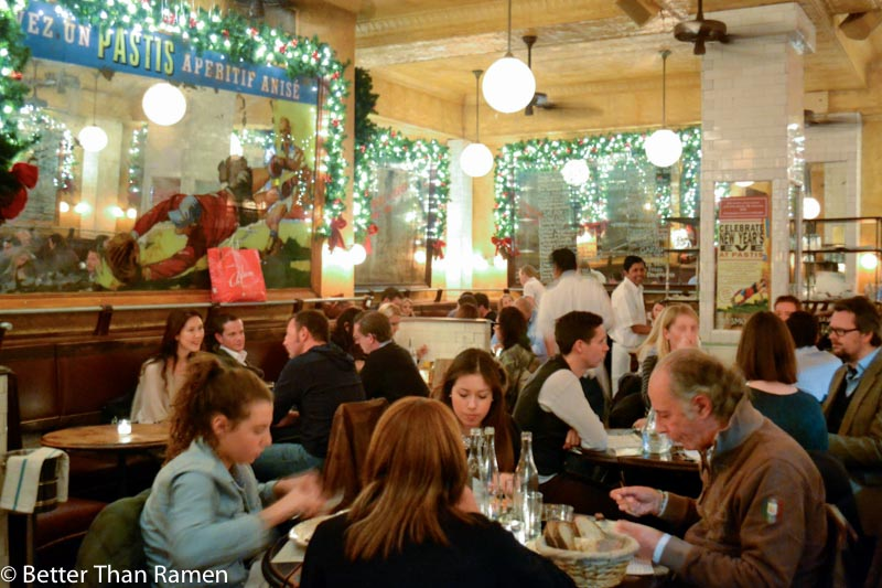 pastis new york restaurant review christmas decor interior