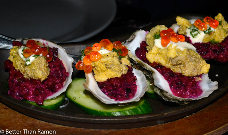 pravda new york dinner review crispy oysters