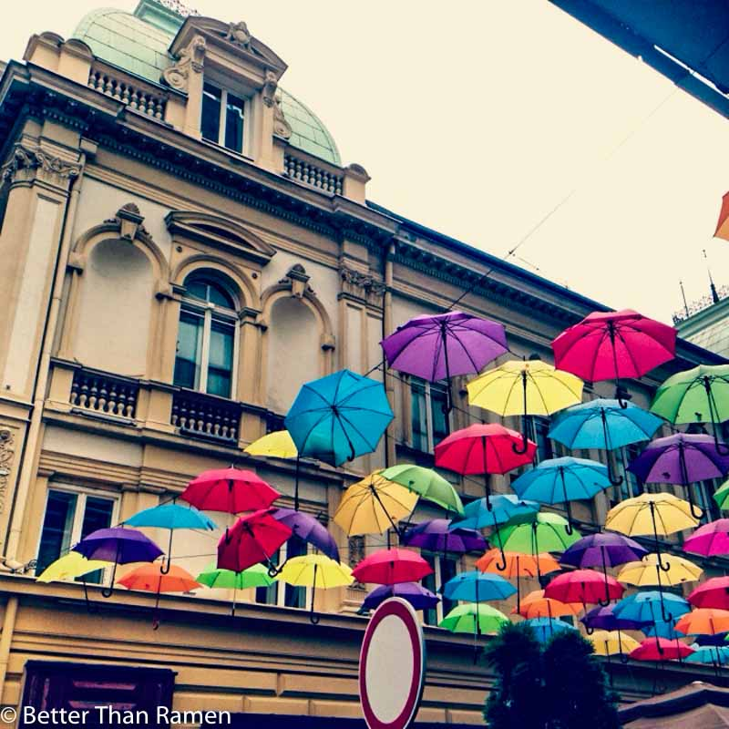foodies guide to belgrade serbia umbrella cafe belgrade beograd kisobran kafe