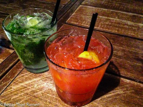Masa 14 Late Night Happy Hour Review mojito strawberry lemonade booze