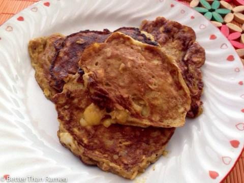 2 Ingredient Gluten Free Pancake Recipe via BetterThanRamen.net