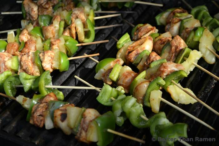 ketchung kabobs recipe kebab skewers summer bbq chicken pineapple pepper kabobs grill