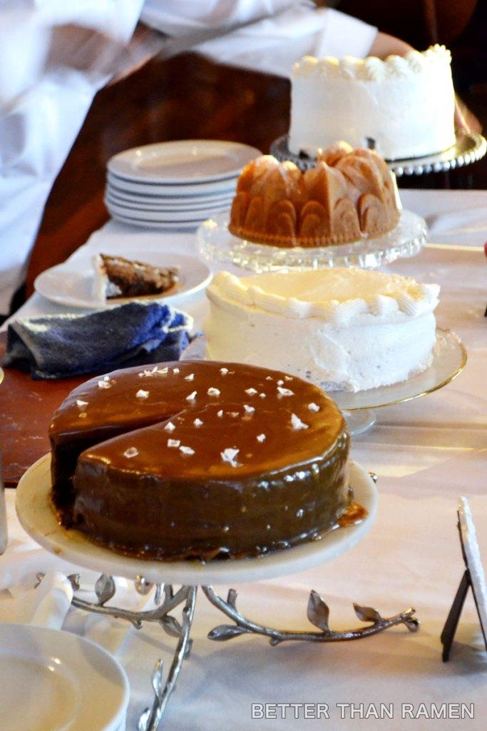 prairie grass cafe cake buffet