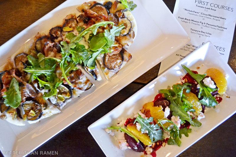 prairie grass cafe flatbread beet salad