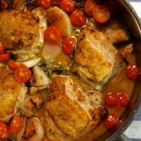 Chicken with Shallots, Tomatoes, and Tarragon