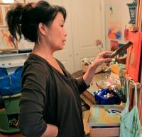 Betty paints
