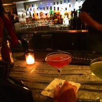 The Pink Panther from Beauty & Essex. Made with Hendricks gin, St. Germain, pink peppercorn syrup and lemon.
