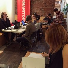 InfoRad and Marcy Markusa were live at Thom Bargen.