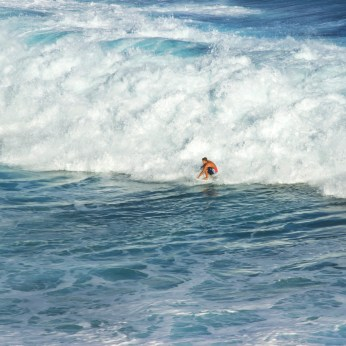 Surfing at Honolua Bay