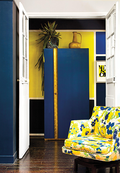 調色盤一樣的家,巴黎古物多彩公寓-1