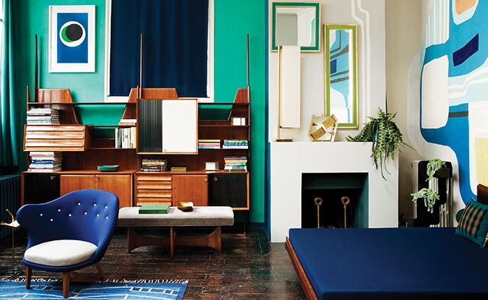 調色盤一樣的家,巴黎古物多彩公寓-6