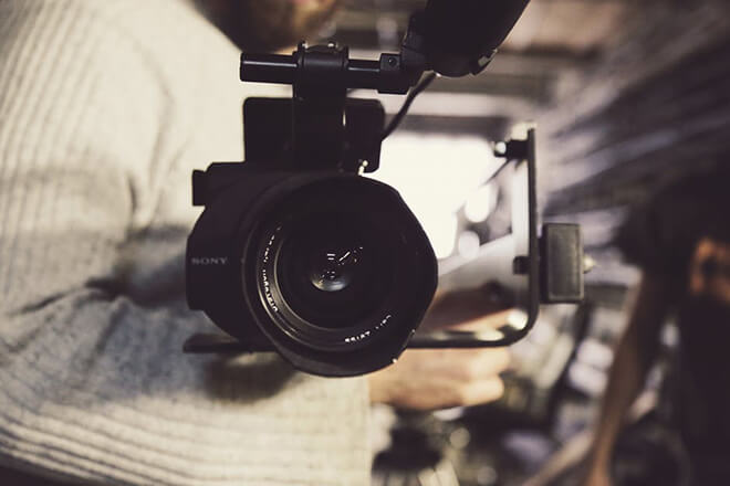 媒體採訪攝影