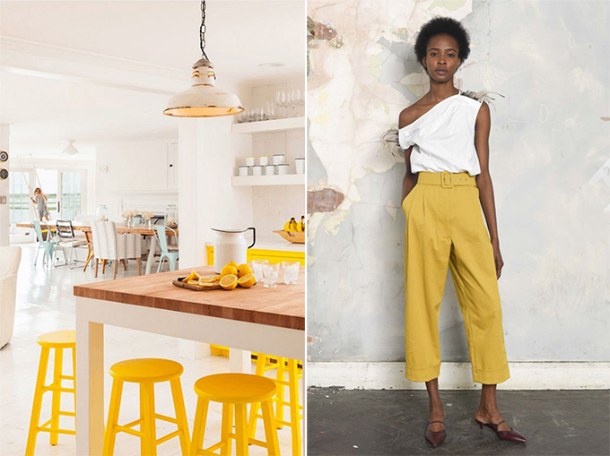 primrose yellow culottes