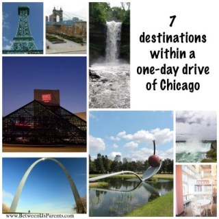 destinations within a one-day drive from Chicago