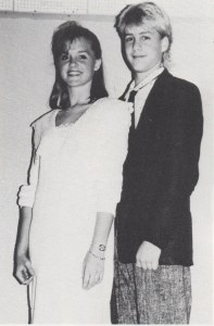 Gabriel Macht poses with Homecoming Princess (he was Homecoming Prince) his freshman year of Beverly.