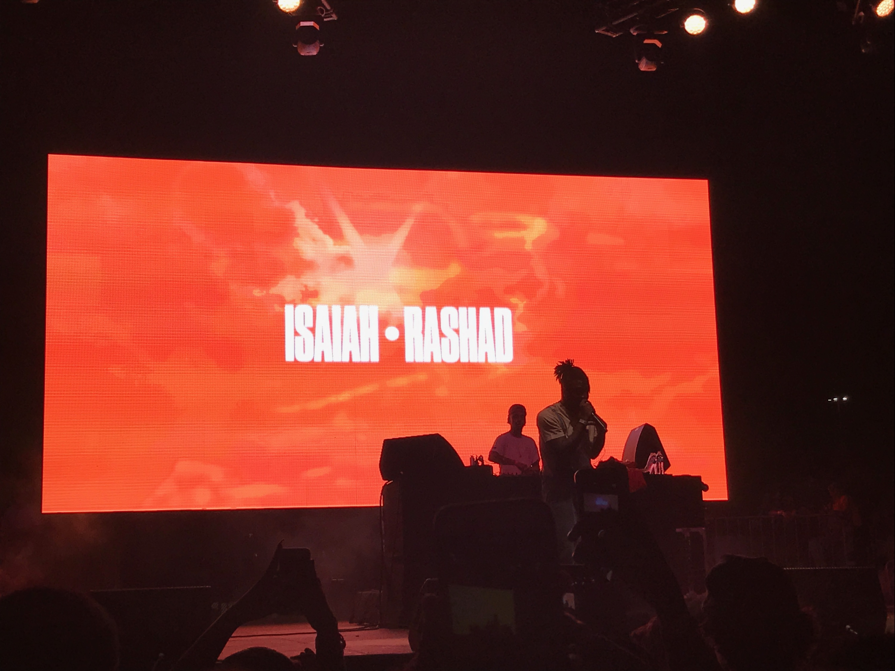 "Isaiah Rashad performs his hit song, ""Wat's Wrong"" at the Day stage on Sunday evening."