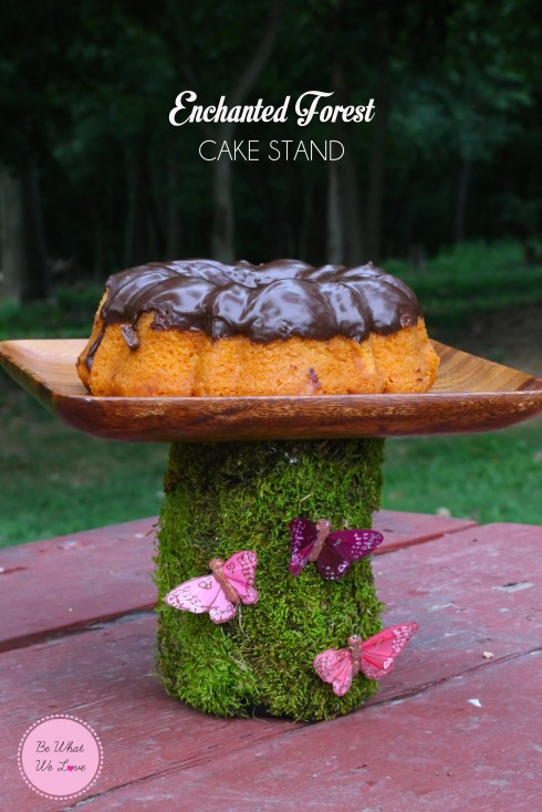 Enchanted Forest Cake Stand Tutorial