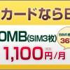 いつのまにかBB.exciteが格安SIMの料金値下げしてた♪(ちょっとだけど(^_^;))