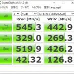 【自作パソコン+中華パッド】CrystalDiskMarkの結果 Windows10 Cドライブ