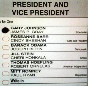 Vote for Gary Johnson
