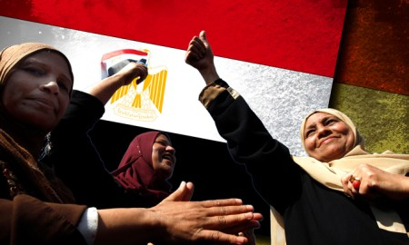 'Now we are saying all together' (Photo: Al Jazeera/AP)