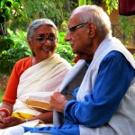 Aruna Roy with Kuldeep Nayyar