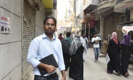 "Afroz Sahil runs BeyondHeadlines (BH) from Batla House, Jamianagar, New Delhi. ""What won't come out in big media on minorities, women, workers, farmers , we publish on our website,"" he says. (Sanjeev Verma / HT Photo)"