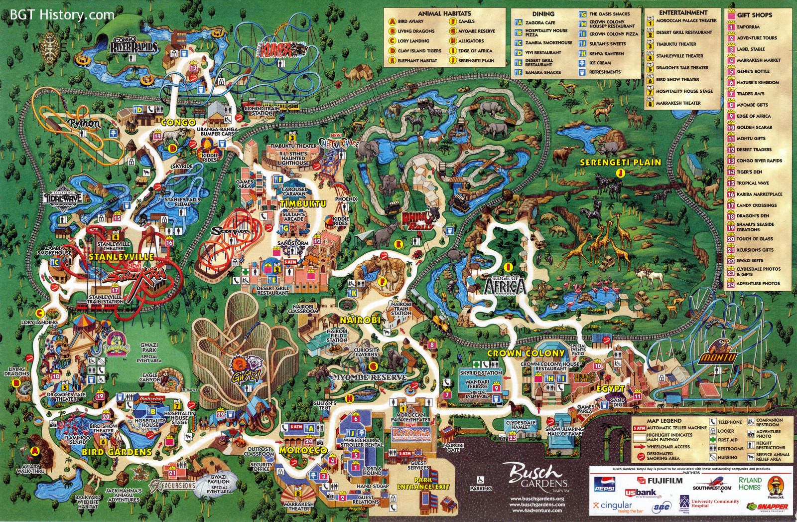 Maps   BGT History   Busch Gardens Tampa History 2005     May