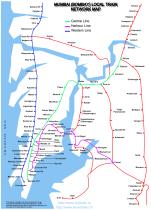 Mumbai suburban railway network image