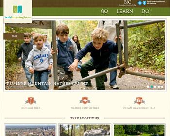 screenshot of TrekBirmingham.com